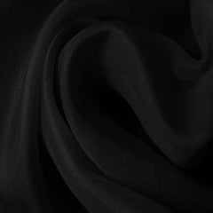 Silk Satin Face Organza Black