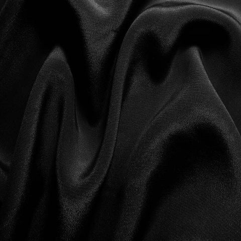 Silk Crepe de Chine Black
