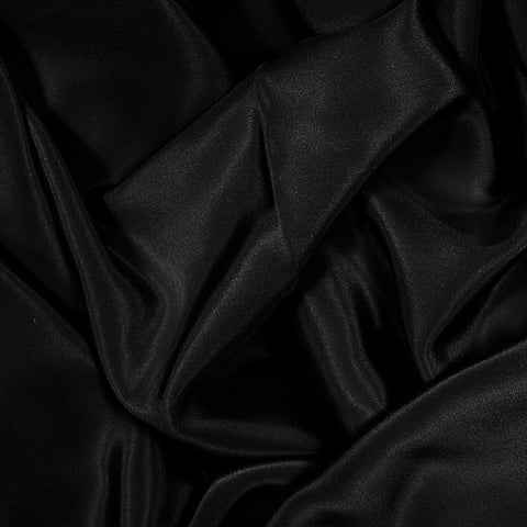 Silk Stretch Crepe De Chine Black