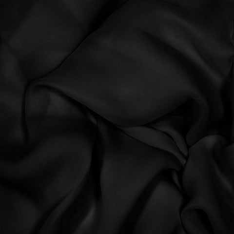 Silk Stretch Georgette Black