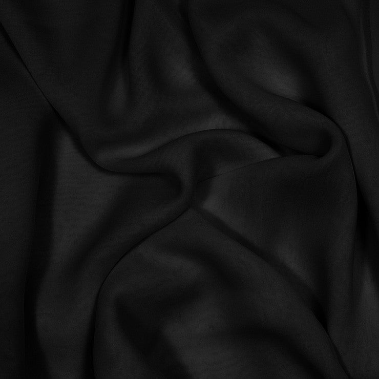 Silk Stretch Chiffon Black