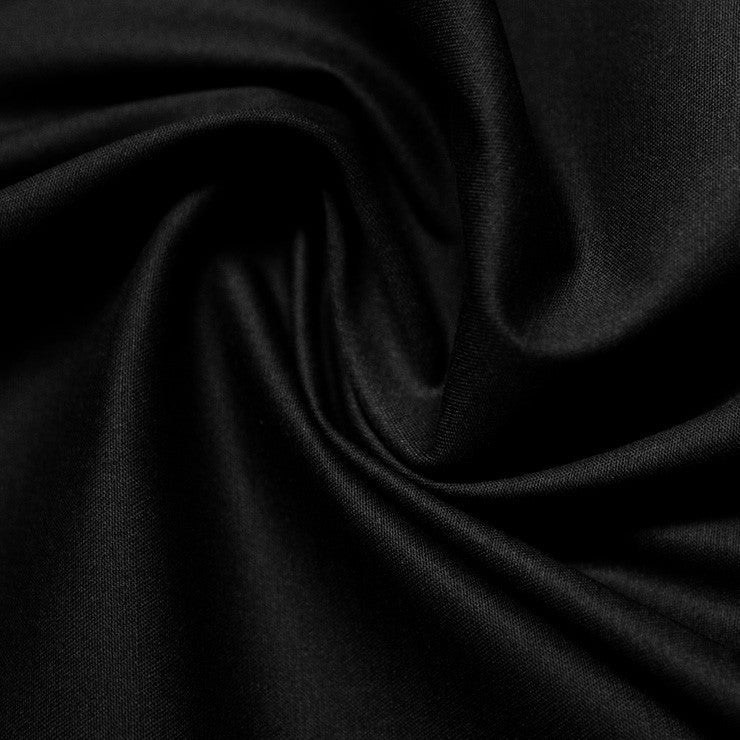 Cotton Stretch Sateen 295 Black - NY Fashion Center Fabrics