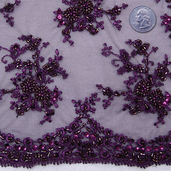 Madame de Pompadour Lace 3 Purple - NY Fashion Center Fabrics