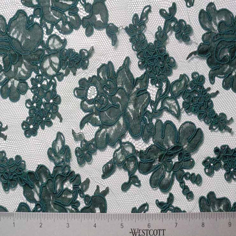 Alencon Lace #18 30 12060R 36DKGreen - NY Fashion Center Fabrics