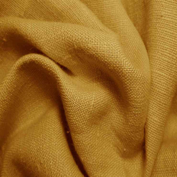Heavyweight Linen 30 Mustard - NY Fashion Center Fabrics