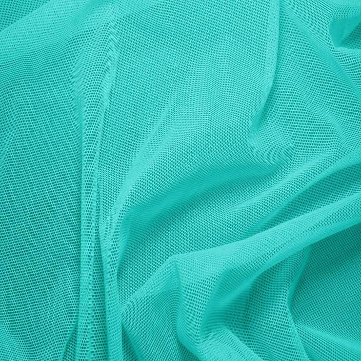 Nylon/Spandex Sheer Stretch Mesh 30 Teal - NY Fashion Center Fabrics