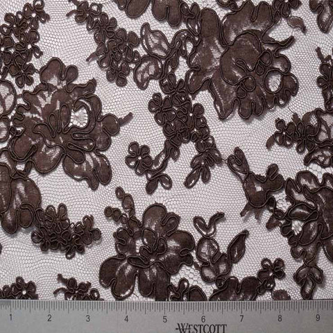 Alencon Lace #19 31 12060R 36 Brown - NY Fashion Center Fabrics