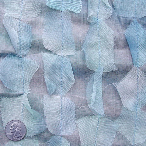 Silk Chiffon Novelty Petal Fabric 31 Cornflower