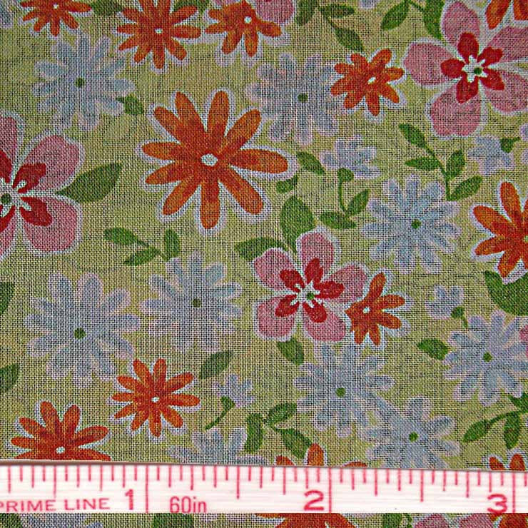 Pima Floral Print Cotton Lawn - 20 Yard Bolt 34