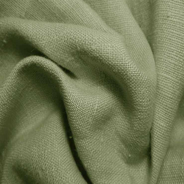 Heavyweight Linen 35 Army Green - NY Fashion Center Fabrics
