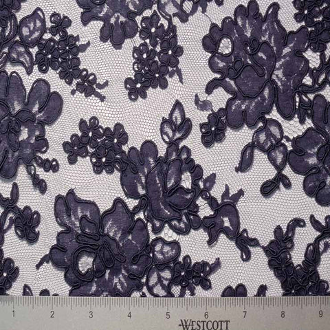 Alencon Lace #24 36 12060R 36 Navy - NY Fashion Center Fabrics