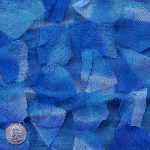 Silk Chiffon Novelty Petal Fabric 37 Blue