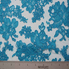 Alencon Lace #28 40 12060R 36 Turquoise - NY Fashion Center Fabrics