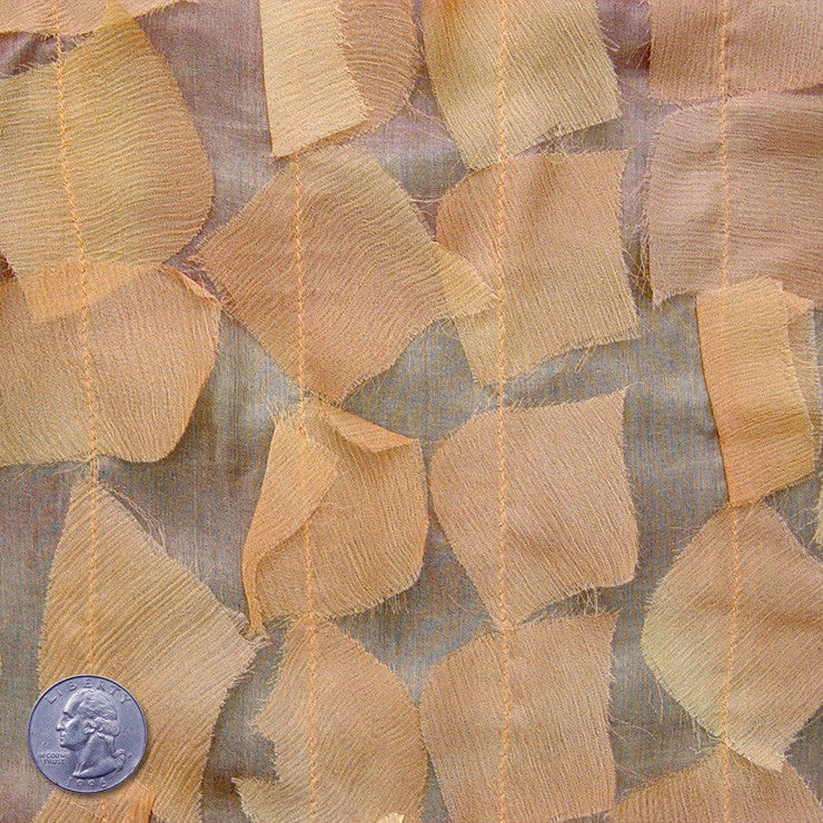 Silk Chiffon Novelty Petal Fabric 40 Peach