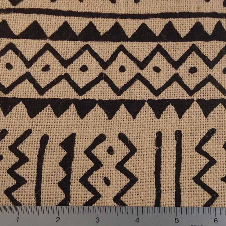 Island Batik Print Burlap - 20 Yard Bolt 409400 Natural - NY Fashion Center Fabrics