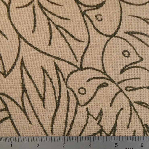 Island Batik Print Burlap - 20 Yard Bolt 409402 Leaf Pattern - NY Fashion Center Fabrics