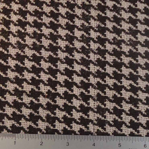Houndstooth Print Burlap - 20 Yard Bolt 409600 Gray - NY Fashion Center Fabrics