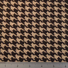 Houndstooth Print Burlap - 20 Yard Bolt 409601 Natural - NY Fashion Center Fabrics
