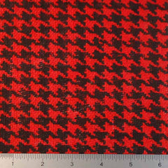 Houndstooth Print Burlap - 20 Yard Bolt 409603 Red - NY Fashion Center Fabrics