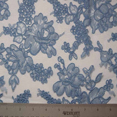 Alencon Lace #29 41 12060R 36 WedgewoodBlue - NY Fashion Center Fabrics