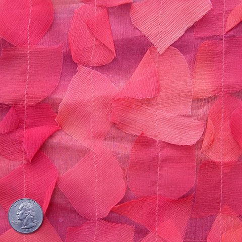 Silk Chiffon Novelty Petal Fabric 41 Deep Pink