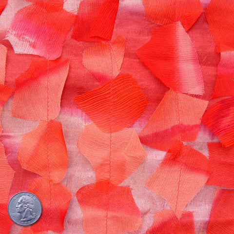 Silk Chiffon Novelty Petal Fabric 42 Red