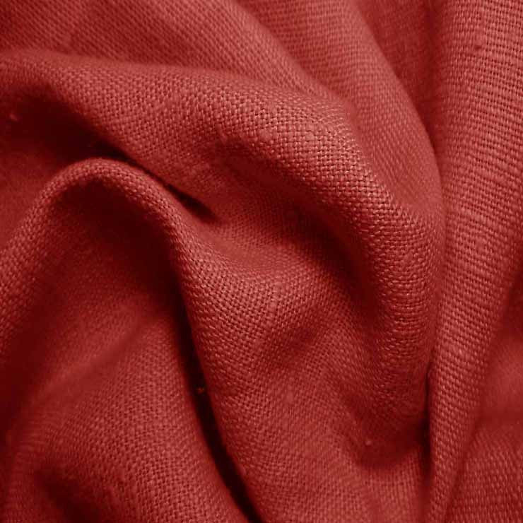 Heavyweight Linen 44 English Red - NY Fashion Center Fabrics