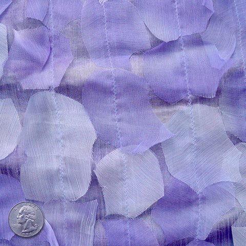 Silk Chiffon Novelty Petal Fabric 44 Light Purple