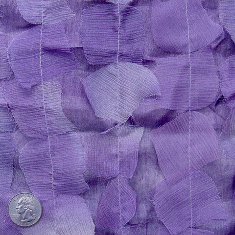 Silk Chiffon Novelty Petal Fabric 45 Purple
