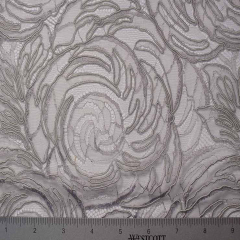 Alencon Lace #34 46 15411R 36 DarkGrey - NY Fashion Center Fabrics