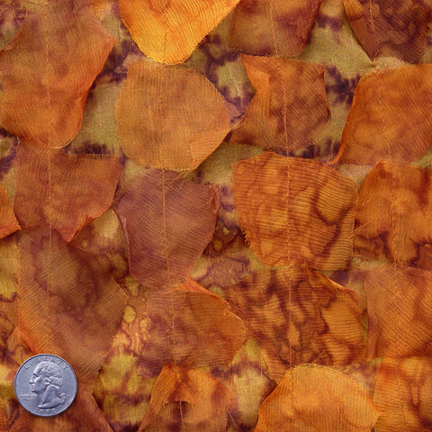 Silk Chiffon Novelty Petal Fabric 46 Autumn Leaf