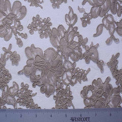 Alencon Lace #35 47 12060R 36 Mink - NY Fashion Center Fabrics