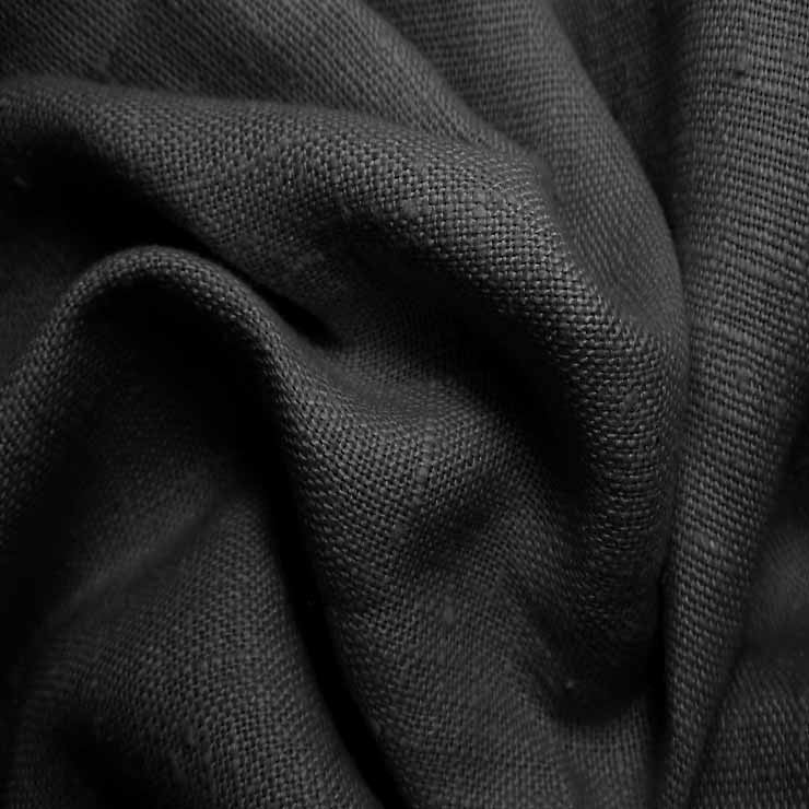 Heavyweight Linen 48 Black - NY Fashion Center Fabrics