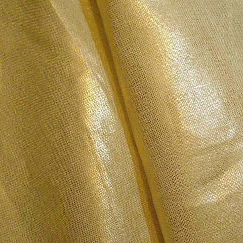 Metallic Linen 48 Silver on Tan Medium - NY Fashion Center Fabrics