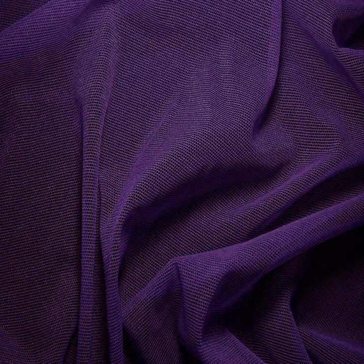 Nylon/Spandex Sheer Stretch Mesh 50 DeepPurple