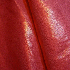 Metallic Linen 50 Gold on Fuchsia Medium - NY Fashion Center Fabrics