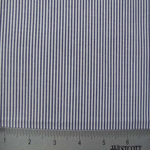 100% Cotton Fabric Stripes Collection #3 50 STR8460NVY - NY Fashion Center Fabrics