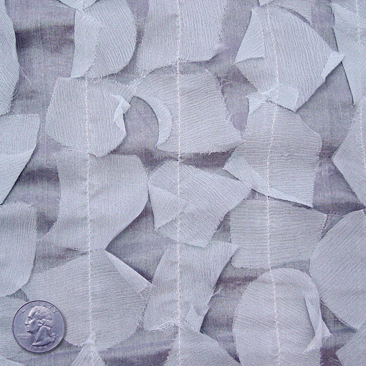 Silk Chiffon Novelty Petal Fabric 50 Slate Gray