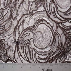 Alencon Lace #39 51 15411R 36 Brown - NY Fashion Center Fabrics
