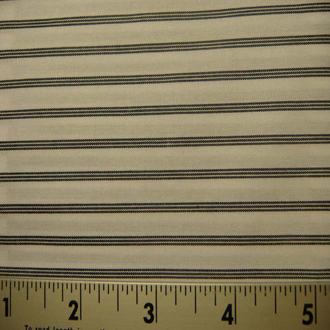 100% Cotton Fabric Stripes 53 Y D8319BLK - NY Fashion Center Fabrics