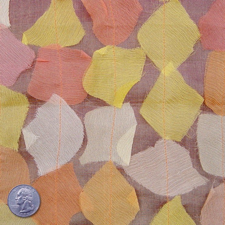 Silk Chiffon Novelty Petal Fabric 54 Autumn Blend
