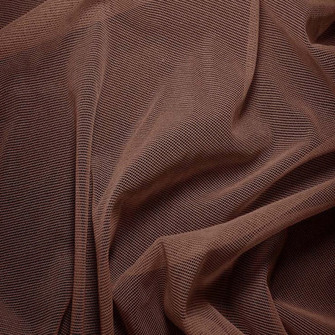 Nylon/Spandex Sheer Stretch Mesh 54 Chocolate