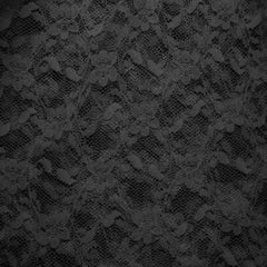 Nylon Stretch Raschel Lace 55 Black - NY Fashion Center Fabrics