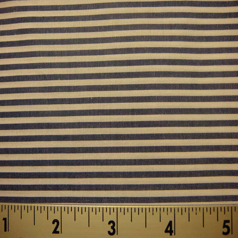 100% Cotton Fabric Stripes 55 Y D8432NVY - NY Fashion Center Fabrics