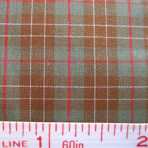 Pima Cotton Mini Tartans Fabric 20 Yard Bolt 5551