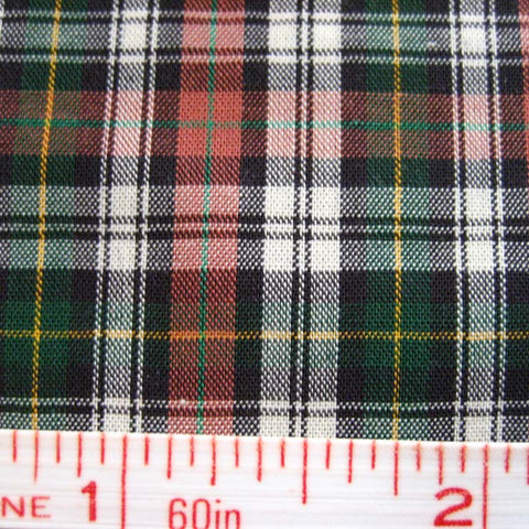 Pima Cotton Mini Tartans Fabric 20 Yard Bolt 5556