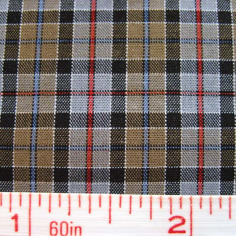 Pima Cotton Mini Tartans Fabric 20 Yard Bolt 5557