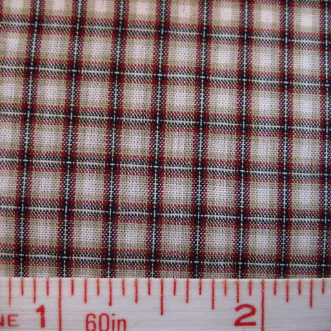 Pima Cotton Mini Tartans Fabric 20 Yard Bolt 5571