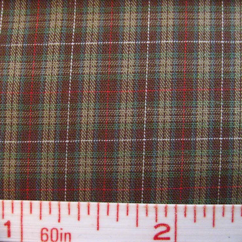 Pima Cotton Mini Tartans Fabric 20 Yard Bolt 5573