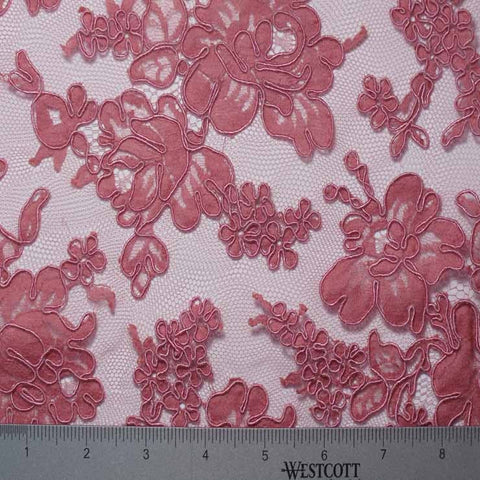 Alencon Lace #44 56 12060R 36 Rose - NY Fashion Center Fabrics